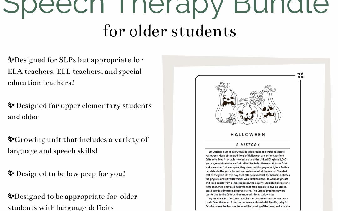 Fall-Themed Speech & Language Therapy Bundle